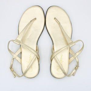 Cole Haan Gold Tali Flat Thong Sandals Nike Air 6